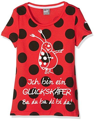 Puma Kinder Tabaluga-Slogan Tee T-Shirt, Flame Scarlet, 116 (Scarlet T-shirt Kinder)