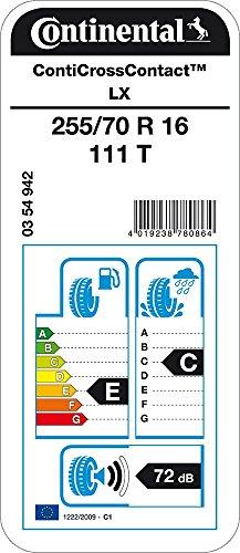 CONTINENTAL ContiCrossContact LX - 255/70/16 111T - E/C/72dB - Pneu Toutes Saisons (SUV et 4X4)