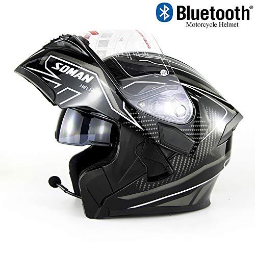 EDW Casco Integral Motocicleta Bluetooth Integrado