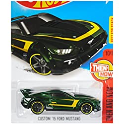 Hot Wheels, 2016 Then and Now, Custom '15 Ford Mustang [Green] 110/250 by Hot Wheels