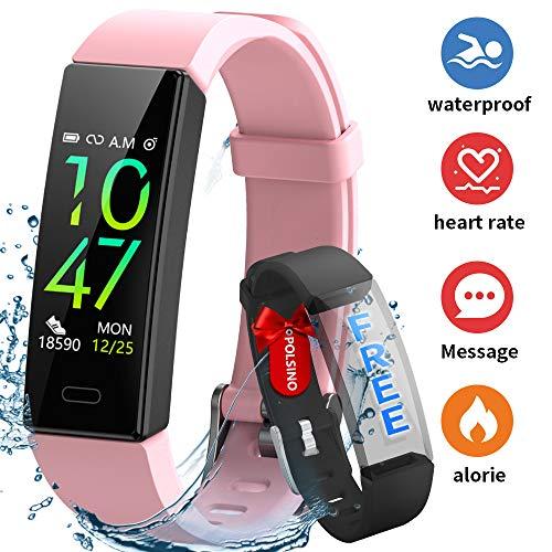 Imagen de hofit pulsera actividad reloj inteligente fitness tracker podómetro monitor de sueño contador de calorías pasos rastreador de ejercicios reloj salud pulsera deportiva para mujeres hombres