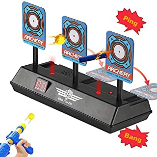AONOKOY Electric Scoring Auto Reset Digital Shooting Target For Nerf Blaster Toy Gun With Intelligent Light Sound Effect High Precision Scoring