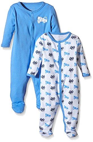 NAME IT Baby-Jungen Schlafstrampler NITNIGHTSUIT W/F NB B NOOS 2er Pack, Mehrfarbig (Regatta) 62