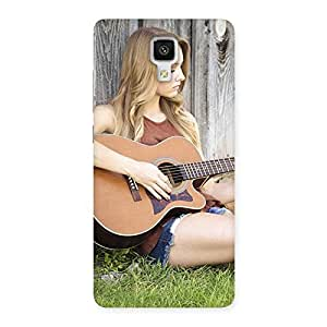 Stylish Girl Guitar Back Case Cover for Xiaomi Mi 4