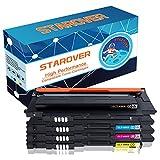 STAROVER 4x Kompatibel Tonerkartuschen Ersatz für CLT-P406C / CLT-406S (CLT-K406S CLT-C406S CLT-M406S CLT-Y406S) Toner Passend für Samsung CLX-3300 CLX-3305 CLX-3305W CLX-3305N CLX-3305FW CLX-3305FN CLP-360 CLP-365 CLP-365W Xpress C410W C460FW C460W (1Schwarz, 1Cyan, 1Magenta, 1Gelb)