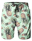 AIDEAONE Herren Hawaii Hemd Strand Kurzarm Knopf Hemden Regular Fit