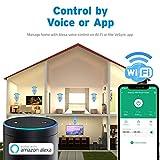 Etekcity WLAN Smart WiFi Plug Steckdose fernbedienbar für Amazon Alexa, Google Home und IFTTT, Kein Hub erforderlich, mit App Steuerung und Verbrauchsanzeige Timer - 3