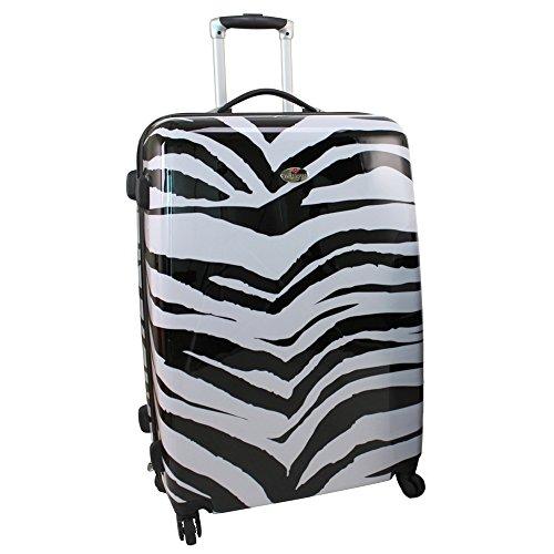 SWISSCASE Bagages 2x Valises Rigides à Roulettes Zebra