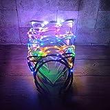 fish LED Leuchten Katze Ohr Stirnband Party Glowing Supplies Frauen Mädchen Blinkende Haarschmuck fußball Fans jubeln Requisiten, zufällige Farbe