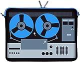 Digittrade LS131-15 DeeJay Designer Schutzhülle für Laptops und MacBooks mit einer Bildschirmdiagonale von 38,1-39,6 cm (15,6 Zoll) blau-schwarz
