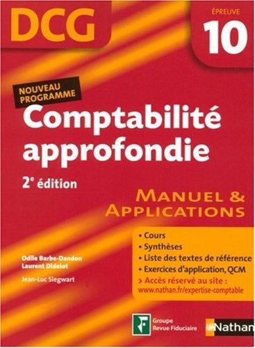 COMPTABILITE APPROF EPR 10 DCG