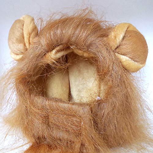 LBAFS Pet Perücke Cap , Lustiges Haustier Kostüm Cosplay Lion Mane Hat Für Katzen Hund Nette Halloween Weihnachten Haustier ()