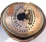 Kompass Messing mit Leder case-sherlock Holmes sammeln können Kompass c-3040
