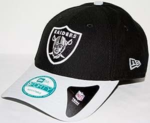 Oakland Raiders New Era 9Forty NFL The League Adjustable Hat Chapeau - 2 Tone
