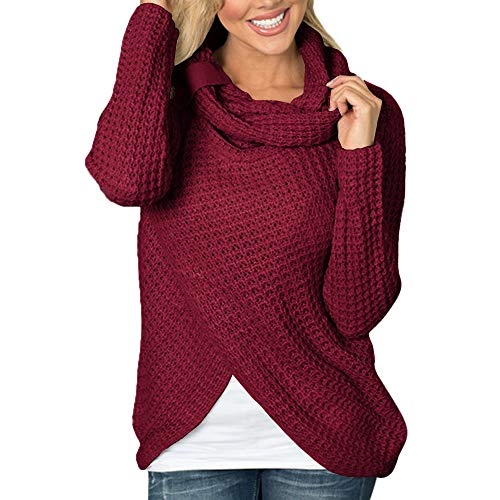 Pullover Damen Staresen Frauen Langarm Solid Sweatshirt Pullover Tops Bluse Shirt Damen Elegant Herbst Winter Langarm Pullover Sweatshirts Oberteile Langarmshirts