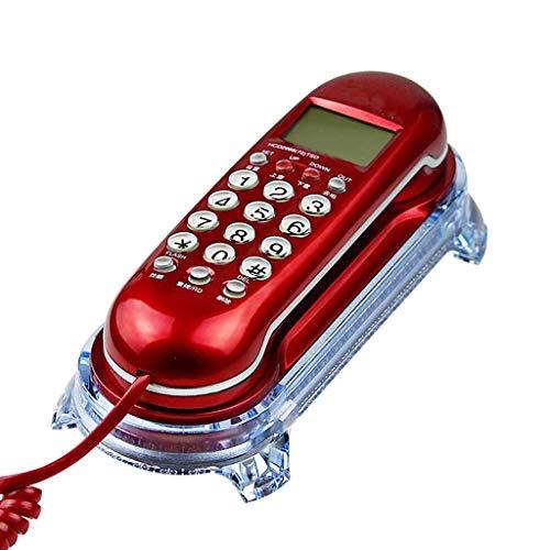 BJYG Festes Telefon/Wandmontage/Kleine Stand-Alone-Nebenstelle für Privathaushalte / 245 * 65 * 35 mm - Rot Stand-alone Foto