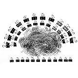 Kesoto Set di Accessori di Cancelleria, 500 Fermagli e 36 Fermacarte Nero Set di Forniture per Ufficio