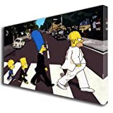 Simpsons Abbey Road Kunstdruck auf Leinwand 375