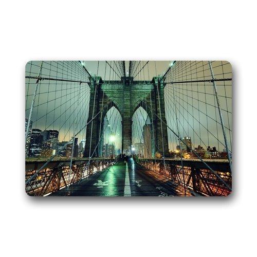 (qicaiyang Roman's Doormat Personalize Decor Carpets ? Door Mats New York City Manhattan Brooklyn Bridge Doormats Top Fabric & Rubber Indoor Outdoor s Area Rugs Entryway Mats 23.6in by 15.7 in)