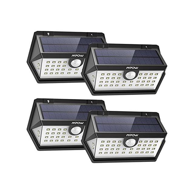 Modes Pack30 Extérieur Intelligents Led Mpow4 Lampes Solaires 3 dsthQr