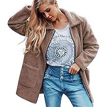 Chaqueta de Felpa Suelta,BBestseller Camisetas para Mujer cálido Abrigo de Cremallera Invierno Blusa Prendas