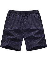 BaronHong hombre de colores ocasionales de moda de algodón Cargo corto relajado pantalones cortos