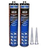 2x Dinitrol 410UV PU schwarz 310ml Tube. Verschließen und selbstklebend Compound