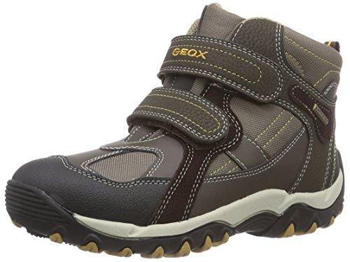 Geox J ALASKA ABX A Jungen Warm gefütterte Schneestiefel Braun (C6215BROWN/DK BROWN)