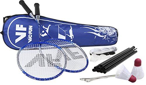 VICFUN Hobby Badminton Set Advanced Mit Netz - Blau