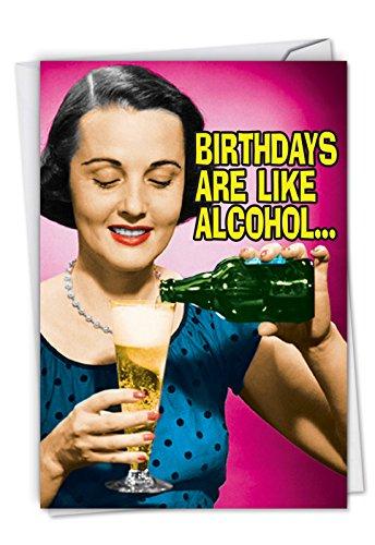 Alkohol: Hysterischen Geburtstag Grußkarte, mit Umschlag c4657bdg. ()