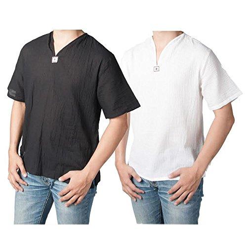 Lofbaz Men's Thai V-Neck T-Shirt