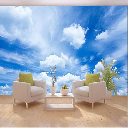 HD Bleu Ciel Blanc Nuages   Classique Photo Papier Peint Salon...