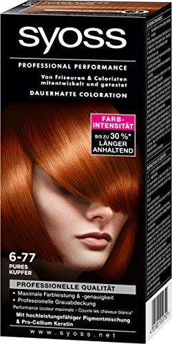 Syoss Professional Performance Coloration, 6-77 Pures Kupfer, 5er Pack (5 x 115 ml)