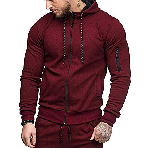 Price comparison product image Fashion Men Discount Autumn Casual Daily tops Men's Autumn Winter Casual Zipper Long Sleeve Hoodie Top Blouse