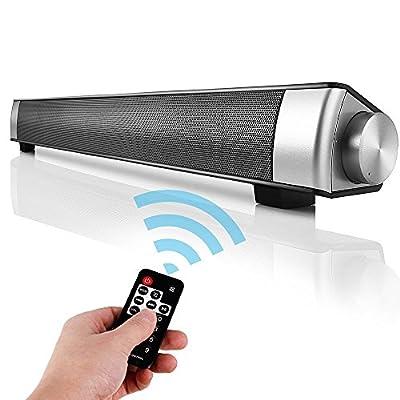Barre de son TV, mini Haut-parleur Bluetooth 4.0 sans fil 10W Stereo avec Subwoofer Pour Computer Smartphone par Made in China