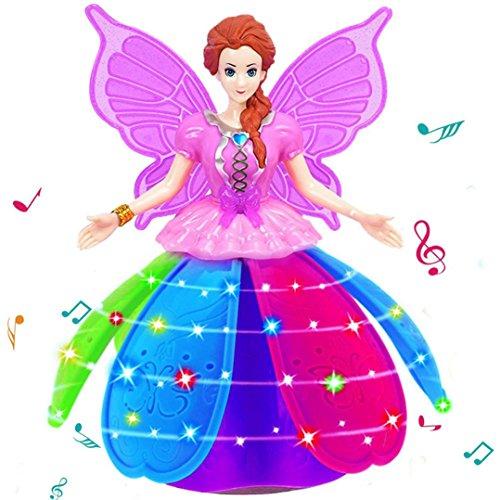 Puppe, mamum Girl Dancing Princess Multifunktions Musik Puppe LED Pet Elektronische Roboter (Wunderschönes Elsa Kleid)