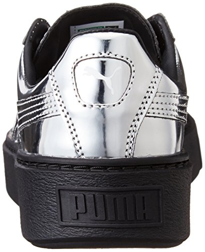 Puma Basket Platform Core, Scarpe da Ginnastica Basse Donna Silver