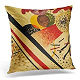 rongxincailiaoke Kissenbezüge Abstract Kandinsky Untitled Wassily Expressionism Bauhaus Decorative Pillow Case Home Decor Square 18x18 Inches Pillowcase