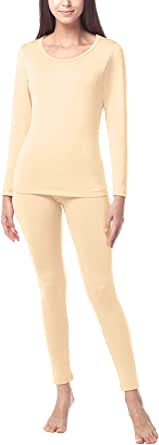 LAPASA Donna Set Termico - Ti Tiene al Caldo Senza Stress- T-Shirt Maniche Lunghe & Pantaloni Invernali Ultra Leggero L17