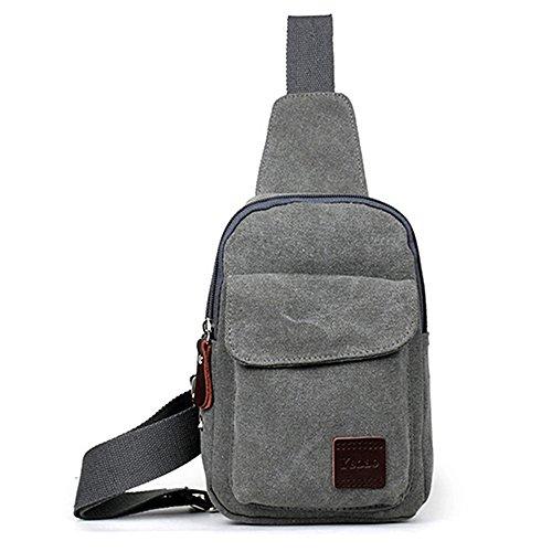 Gemini_mall®  Sling Bag Brust-Schulter-Tasche, Outdoor-Rucksack, Beutel, Crossbody-Tasche, Fahrradtasche, grau