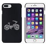 Schwarz 'Seitenansicht Fahrrad' Hülle für iPhone 7 Plus (MC00147569)