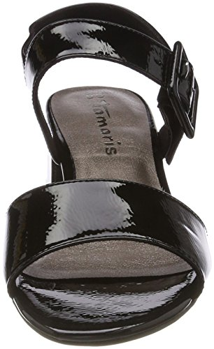 Tamaris Damen 28211 Slingback Sandalen Schwarz (Black Patent)