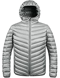 ZSHOW Hombres Ultra Ligero Packable Abajo Puffer Chaqueta