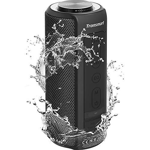Tronsmart T6 Plus 40W Wireless Outdoor Bluetooth Lautsprecher 5.0 mit Tri-Bass-Effekten, Powerbank, 360° TWS Stereo Sound, wasserdichtes IPX6, 15-Stunden Spielzeit, Sprachassistent und Mikrofon