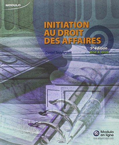 Initiation au Droit des Affaires 5ed Maj