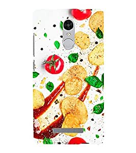 ifasho Designer Back Case Cover for Xiaomi Redmi Note 3 :: Xiaomi Redmi Note 3 Pro :: Xiaomi Redmi Note 3 MediaTek (Cake Tomatoes Sauce Changchun China Jamnagar)