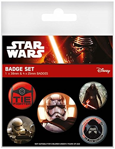 Star Wars Episode VII Spilla Pin Badges 5 Pack Resistance Pyramid International