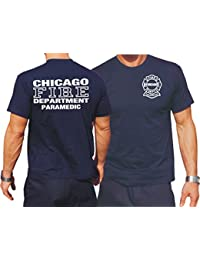 T-shirt chicago fIRE dEPT-paramedic de chicago-pompiers