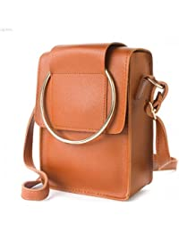 TYPIFY Leatherette PU Cross Body Metal Ring Sling Bag For Women And Girls College Office Handbag/Metal Ring Handbag...