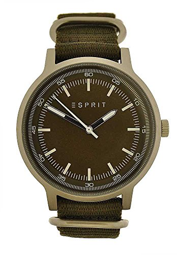 Esprit Hombre Reloj de pulsera analógico cuarzo correa de tela verde es108271004